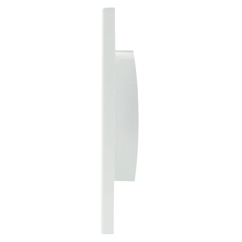 L/üftungsgitter eckig 170 x 170 Abluftgitter Lamellengitter Insektenschutz Kunststoff MKK/® /Ø 100 mm wei/ß