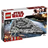 LEGO Star Wars First Order Star Destroyer 75190 Building Kit (1416 Piece)