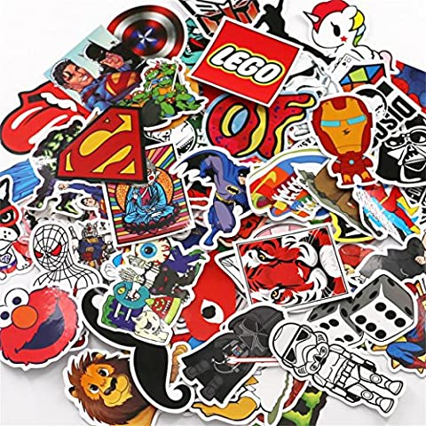 UTSAUTO Pack of 100Pcs Different Car Stickers Motorcycle Bicycle Skateboard Laptop Luggage Decals Bumper Stickers (A Sticker)