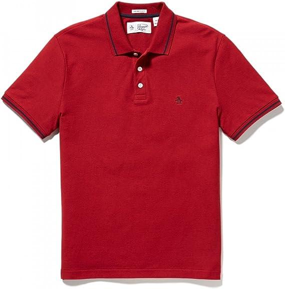 ORIGINAL PENGUIN Tipped Polo, Rojo (Pomegranate 643), Small para ...