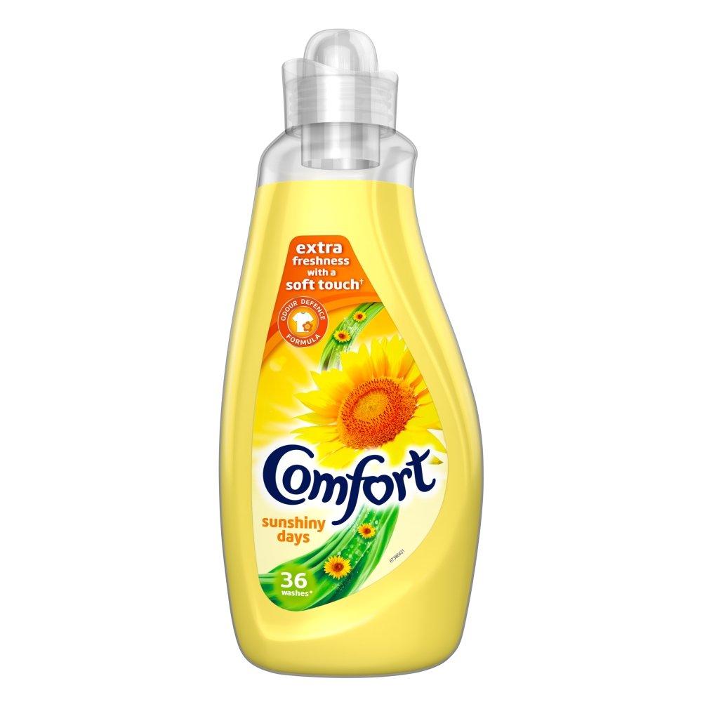 Comfort Fabric Conditioner Sunshiny Days 36 Wash Laundry Liquids1.26L, Pack of 6