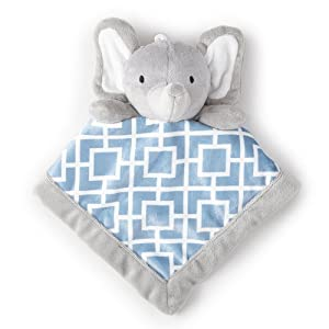 Levtex Home Baby Grey Elephant Security Blanket