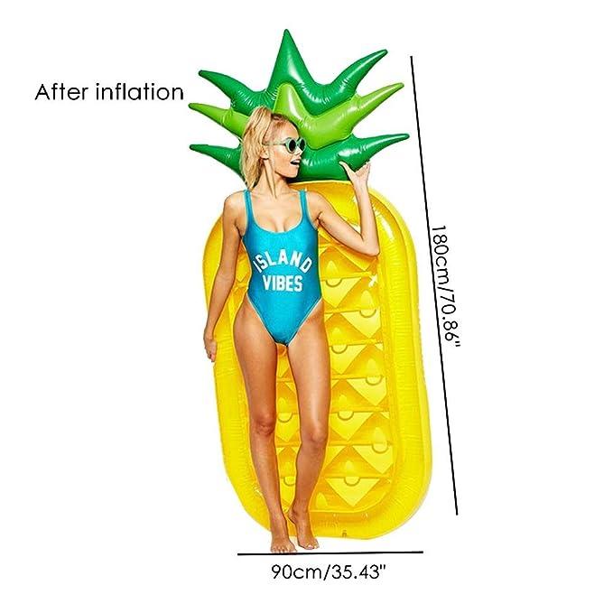 Amazon.com: Aolvo Giant Pineapple Float Inflatable Floaties ...