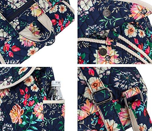 Backpack for Teenage Girls, Floral College Student School School Canvas Bag Knapsack by Hikker-Link (Image #4)