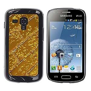 Be Good Phone Accessory // Dura Cáscara cubierta Protectora Caso Carcasa Funda de Protección para Samsung Galaxy S Duos S7562 // Bar Pattern Shiny Metal