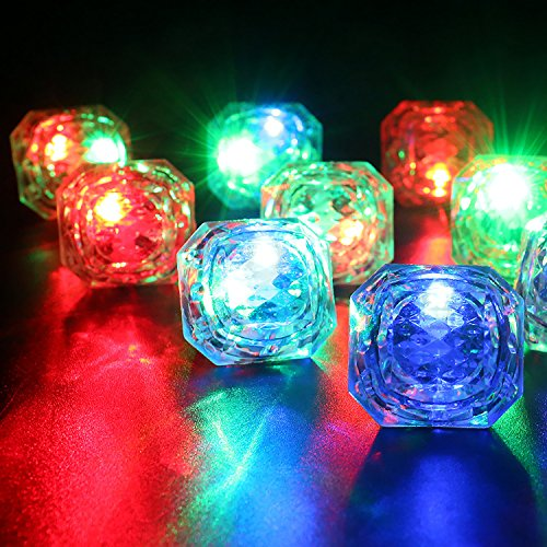 Konsait Flashing Led Light up Ring Toys Diamond Grow in the Dark Jelly Bumpy Rings for Birthday Bachelorette Bridal Shower Gatsby Party Favors (12pcs) by Konsait (Image #2)
