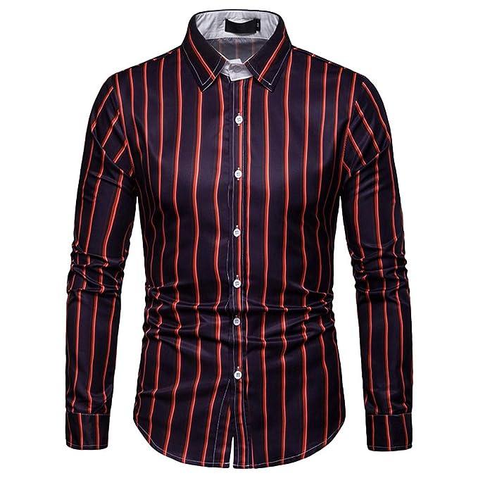 new styles 1b8a8 1d0de Herren-Hemden Streifenmuster Langarm-Hemd, ZEZKT ...