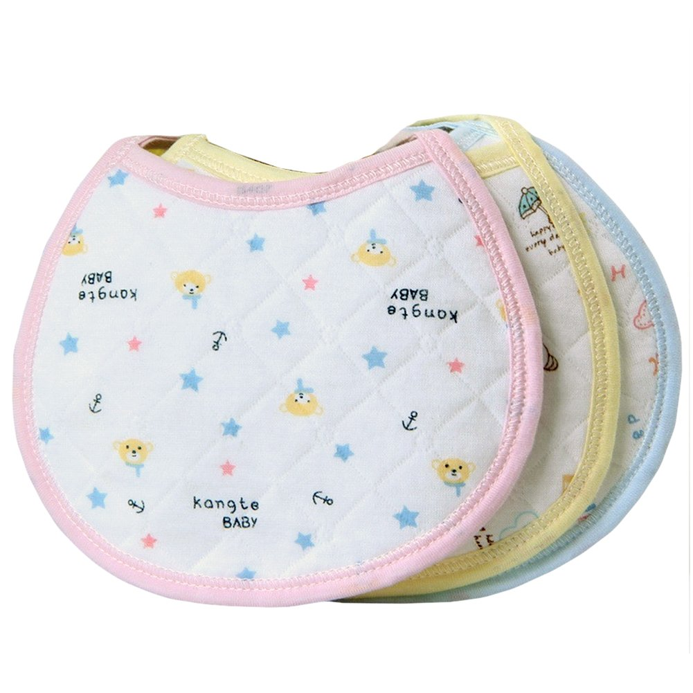 5 pc de niño cordaje de tripa natural para Drooler Diseño de chica con Unisex Diseño de bebé babero servilleta Terry