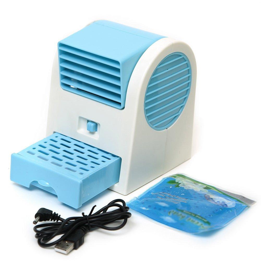 SODIAL (R) Mini ventilatore elettrico Aria condizionata USB Angolo regolabile Blu SODIAL(R) 026547A7