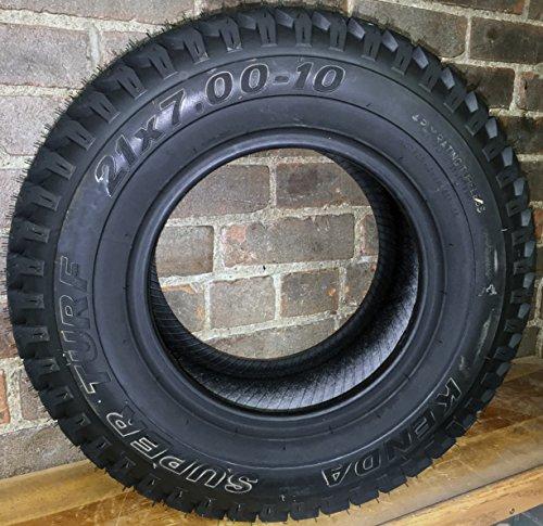 Kenda 2X 21x7.00-10 Kenda K500 Super Turf 4 Ply Tubeless Tire ATV Golf Cart Zero Turn - 4 Turf Tread 2 Ply