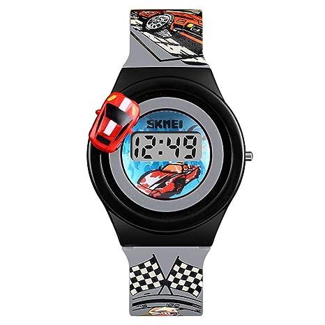 Seasaleshop niños analógicas Relojes, niños Sports 3D Mignon Coche Reloj de Juguete, Chicos Chicas