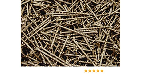 8 Screw Diameter Quantity: 500 1-3//16 of Thread Length #8 x 1-3//4 Stainless Steel Deck Screw Square Drive Type 17 Wood Cutting Point Flat Head with 4 Nibs Underhead 1-3//4 Screw Length