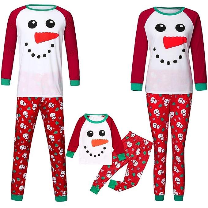 Fossen Kids Pijamas Familiares Navidad con Estampado de Muñeco de ...