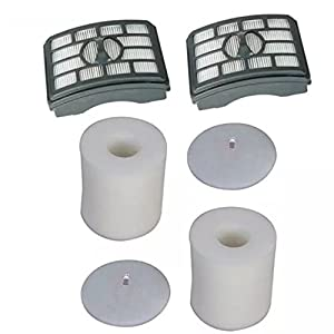 EcoMaid Accessories For Shark Rotator Pro Lift-Away NV500 NV501 NV505 NV552 HEPA Filter & Foam Filter Kit, Part # XFH500 & XFF500