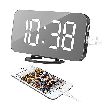 "XingYue Direct Reloj Despertador, Reloj Digital con Pantalla LED Grande de Lectura fácil de 6.5"""