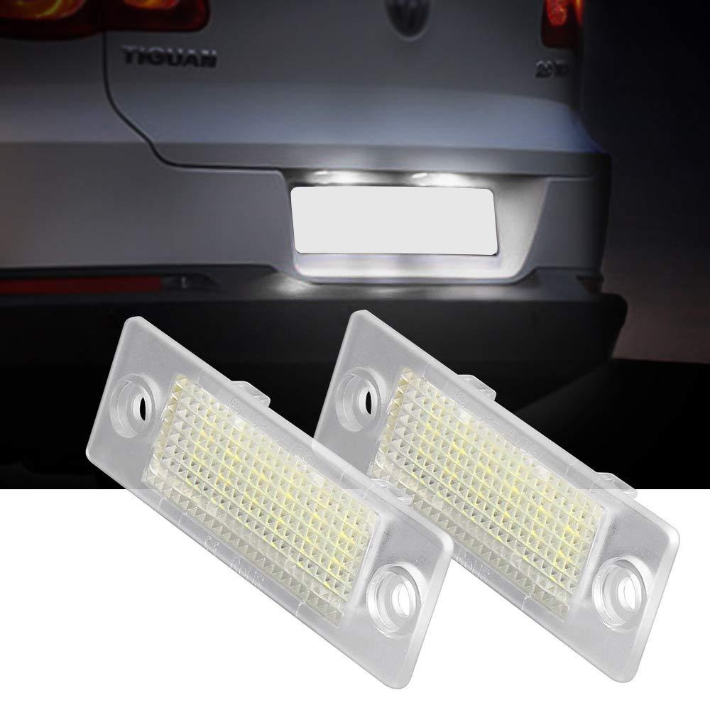 6000K Bianco Passat 5D R36 / 2 pezzi LED Numero di Targa Luce lampade Posteriore per TT Q5 A4 S5 A5