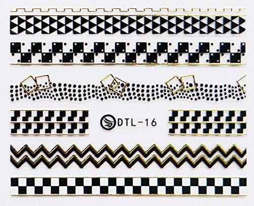 Nail Art 3D Decal Stickers Native Pattern - DTL016 Nail Sticker Tattoo - FashionDancing