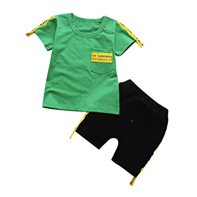 07afdefde Roiper Baby Unisex Clothes, 2Pcs Infant Baby Boys Girls O-Neck Letter Print  Tops+Pants Outfits Clothes Set (Red,White,Green): Amazon.co.uk: Clothing