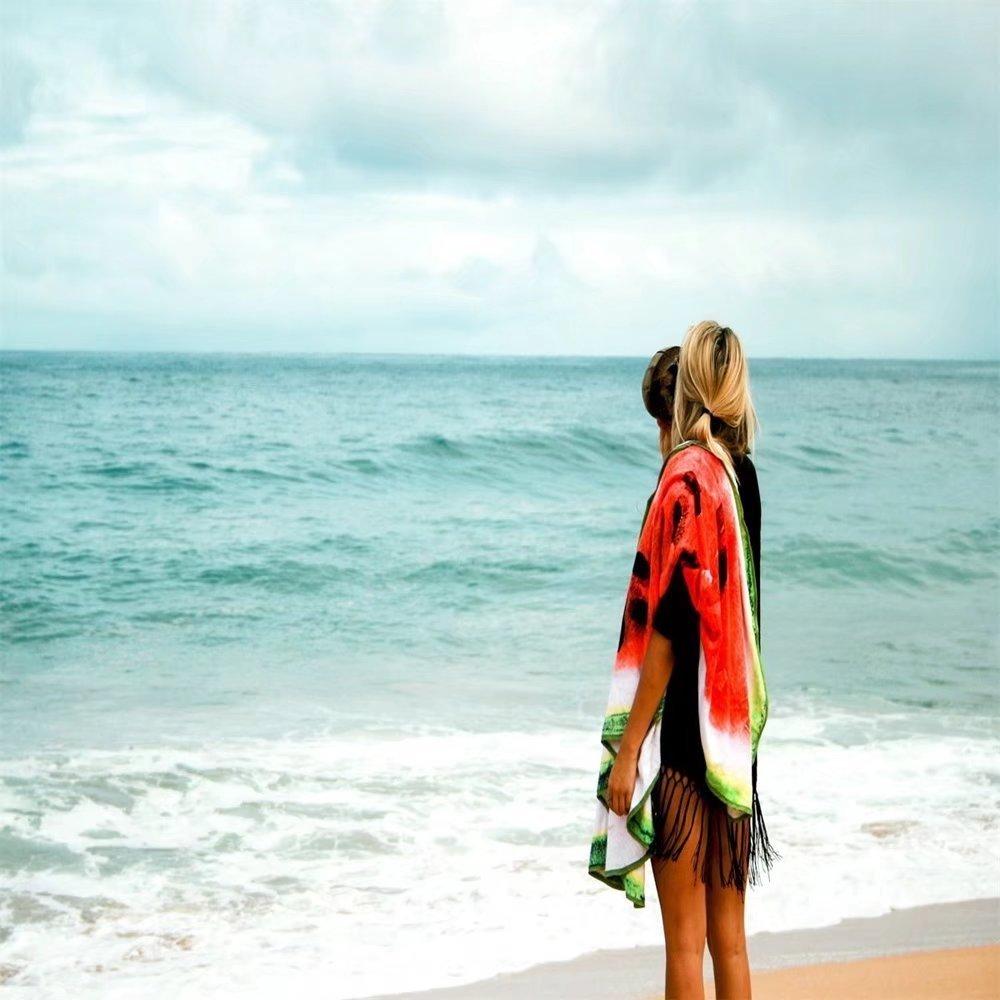 Toalla redonda de playa perfecta para mujer, hombre y niño. Esta toalla antiarena es perfecta para la playa, pícnic, hogar, piscina o para utilizarla como ...
