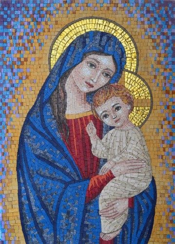 VIRGIN MARY & BABY JESUS GLOSSY POSTER PICTURE PHOTO lady holy god faith
