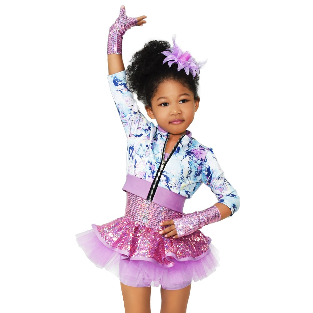 MiDee Dance Costumes Dresses Performance Outfits for Girls (MC)