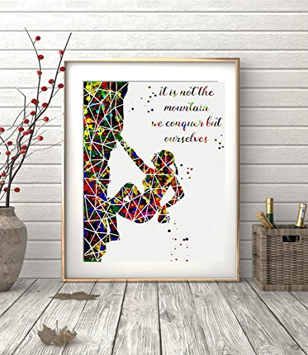 rock-climbing-girl-geometric-watercolor-posters-art-prints-extreme-sports-wall-decor-artworks-wall-a