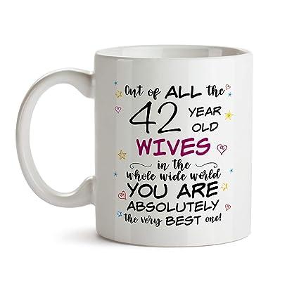 Amazon 42nd Wife Birthday Gift Mug