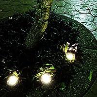 noveste 4 x LED Jardín Foco Solar lámpara foco de suelo redondo Foco empotrable suelo Foco empotrable lámpara de jardín: Amazon.es: Iluminación