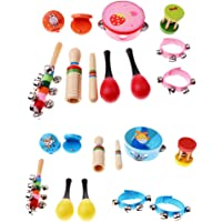 Baoblaze 20Pcs Musical Instruments Educational Kids Baby Toddler Percussion Toys