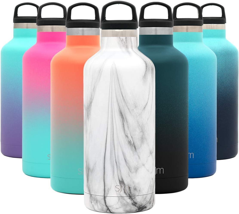 Simple Modern 940mL Ascent Termo Botella de Agua de Acero Inoxidable con Tapa de Asa, Botella termica con Boca Estrecha, aislada al vacío, Doble Pared, sin BPA para Deporte o Viaje, Prueba de Fugas