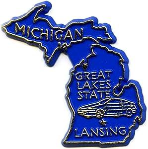 Michigan State 2D PVC Fridge Collector's Souvenir Magnet Jnks by Souvenir Destiny
