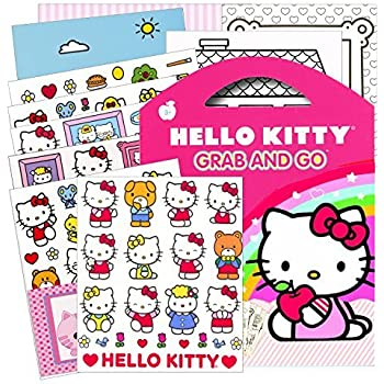 Hello kitty stickers grab go travel activity pack stickers play scenes coloring sheets plus bonus reward sticker