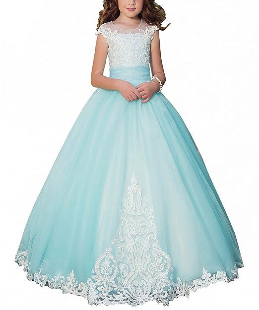 Amazon.com: plwedding Fancy vestido de niña de flores niños ...