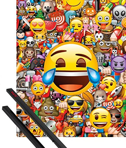 Emoji Collage Bedroom Poster With Hanger