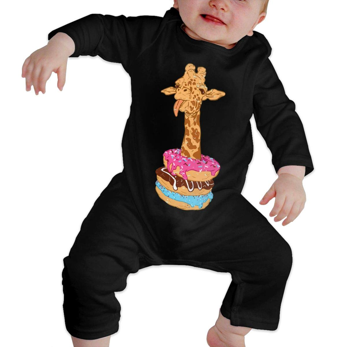 Mri-le1 Baby Boy Girl Coverall Giraffe Donut Baby Clothes