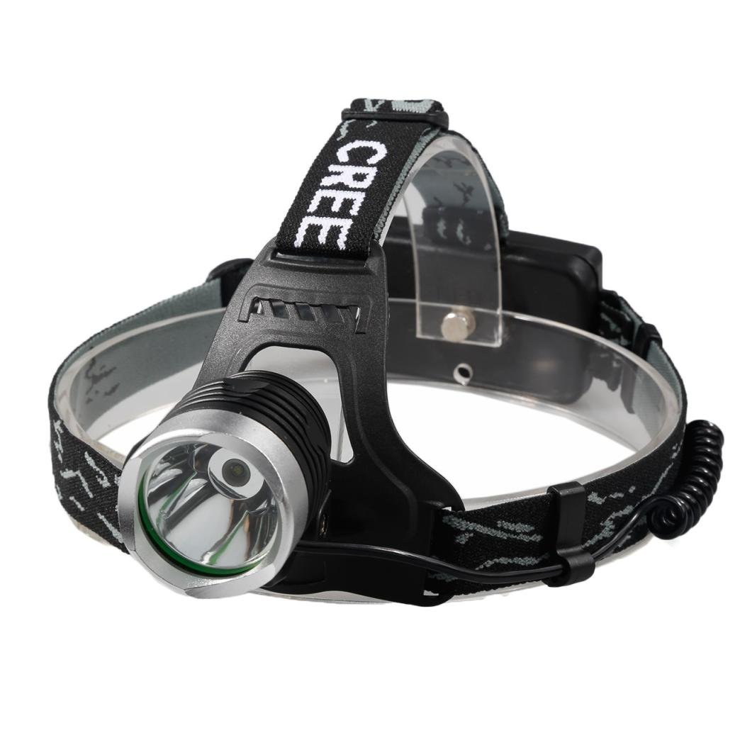 Head Torch Internet Super Bright Headlamp Adjustable Flashlight 5000 Lm 1 Led Super Bright Flahlight (Black) Internet_8810