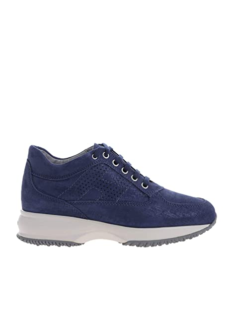 Hogan Mujer HXW00N00E30KAYU803 Azul Cuero Zapatillas: Amazon.es: Zapatos y complementos