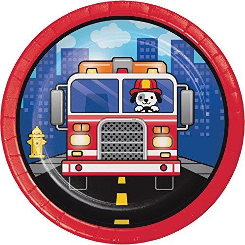 Fire Truck Dessert Plates, 24 (Fire Truck Plate)