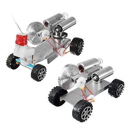 Amazon Com Rarido Diy 17085100mm Mini Engine Car Robot Kit With