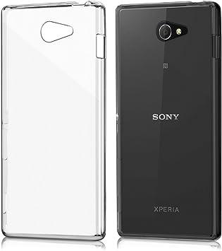 REY Funda Carcasa Gel Transparente para Sony Xperia M2 Ultra Fina ...