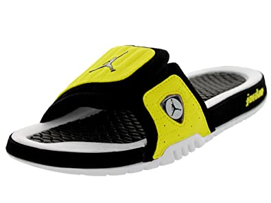 2bff4d8e33820f Image Unavailable. Image not available for. Colour  Jordan Nike Men s Hydro  Xiv Retro Black Black Vibrant Yellow Wht Sandal 10