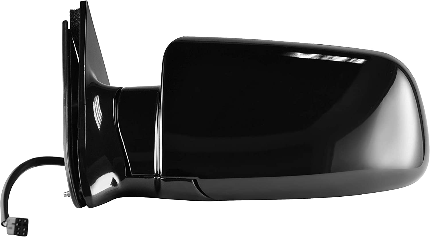 Parts Link #: GM1320276 Power Operated Side View Mirror for 1988-2000 C//K 1500 Chevy GMC Truck Suburban Heated Left Driver Side Painted Black
