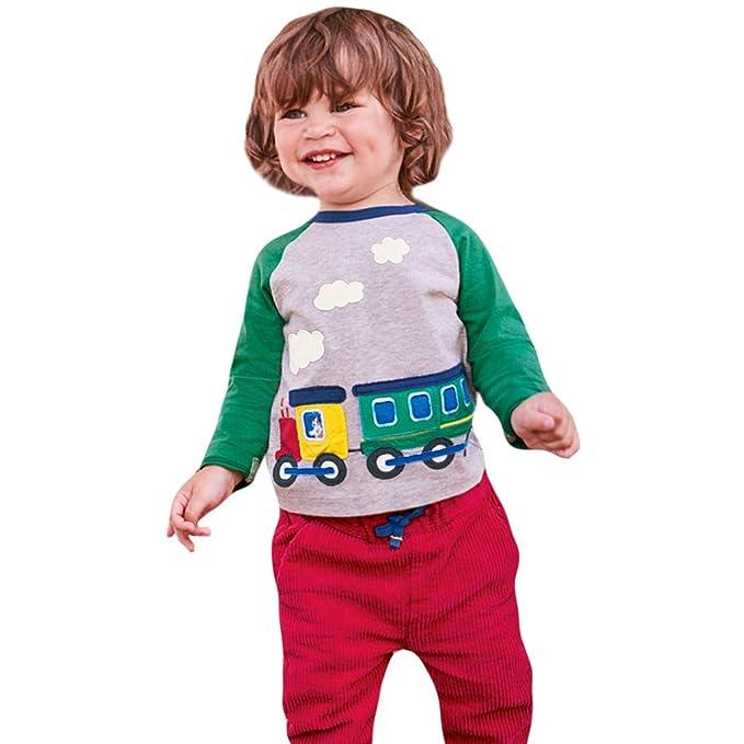 Makalon Baby Junge M/ädchen S/ü/ß Karikatur Arbeitsfahrzeug Auto Drucken Bluse Kleinkind mit Langen /Ärmeln Freizeit Sweatshirt T-Shirt Kinder Baumwolle weiche l/ässige Top Kleidung Outfits