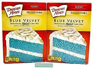 Bundle:Duncan Hines Signature Blue Velvet Cake Mix with Free Candles (Blue Velvet)