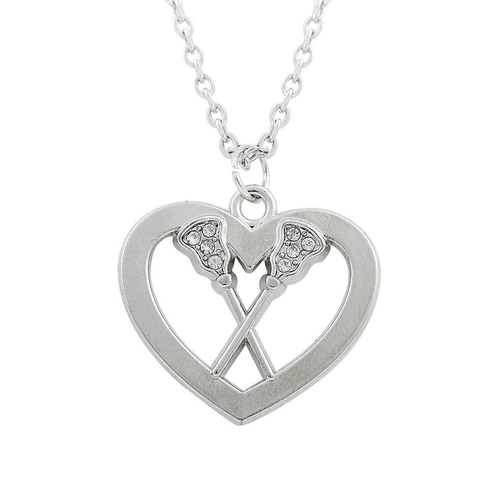 c8275d91052 Skyrim Mode Cristal Paddle Cœur Pendentif Collier pour Homme et Femme  Cadeaux