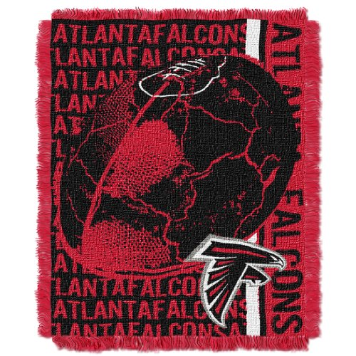 The Northwest Company Officially Licensed NFL Atlanta Falcons Double Play Jacquard Throw Blanket, 48