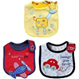 iDream Printed Toddler/Baby Bibs (Unisex, Pack of 3)