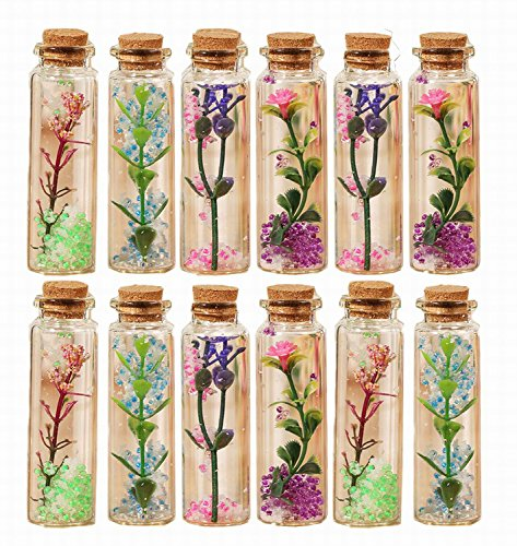 Salom¨¦ Idea Small Transparent Mini frozen Glass Jars with Cork Stopper and with DIY ice magic bottle - Diy Glasses Harry Potter