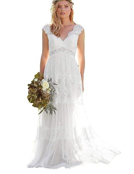 Amazon.com: Liangjinsmkj - Vestido de novia para mujer ...