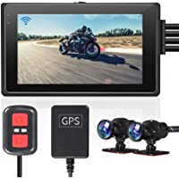 VSYSTO WiFi Support Motorcycle Camera Recorder DVR with Dual Separated Full HD 1080P Waterproof Lens Dash Cam 170° View…